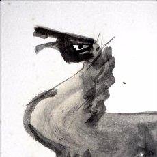 Arte: DIBUJO DE CABALLO O MA-GA, FORMATO SHIKISHI 27.3×24.2CM,UENO TOMOAKI?. Lote 289465758