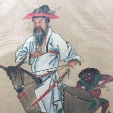 Arte: IMPRESIÓN COPIA DE CABALLO O MA-GA, FORMATO SHIKISHI 27.3×24.2CM, MAESTRO TOMIOKA TESSAI. Lote 289473413