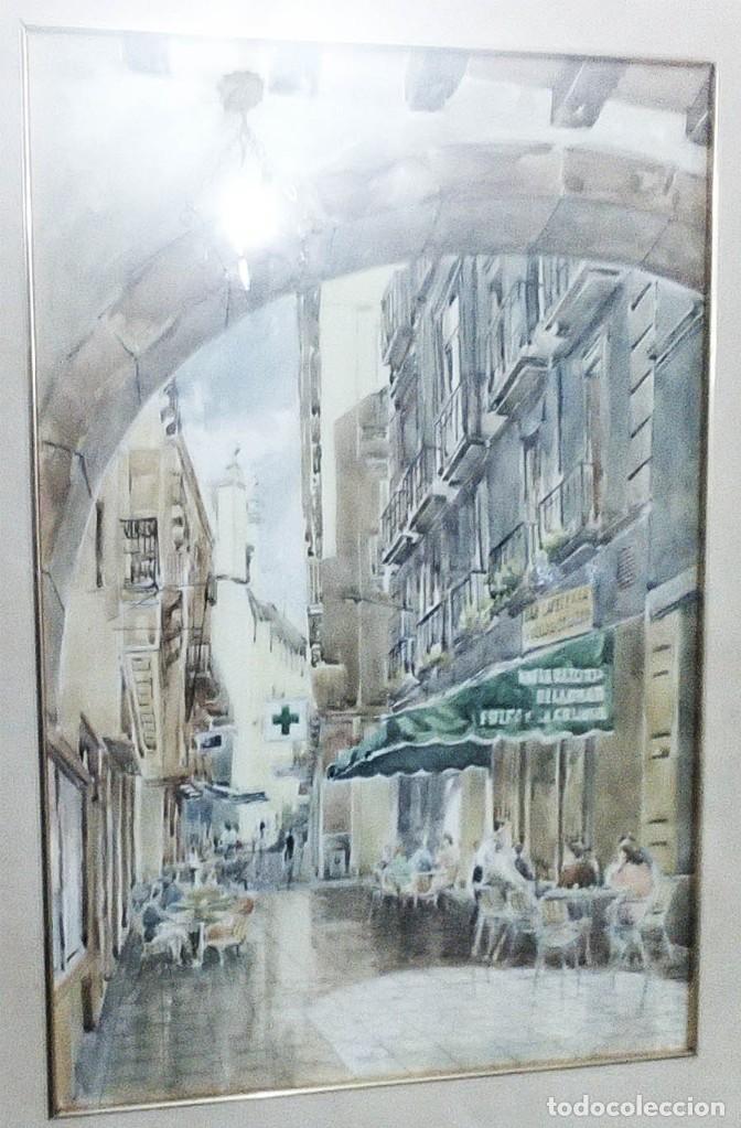 Arte: 2 ANTIGUAS ACUARELAS ALICANTE PASAJE PORTICO DE ANSALDO RINCON GALLEGO ANONIMO ¿PETEN? - Foto 3 - 289574998