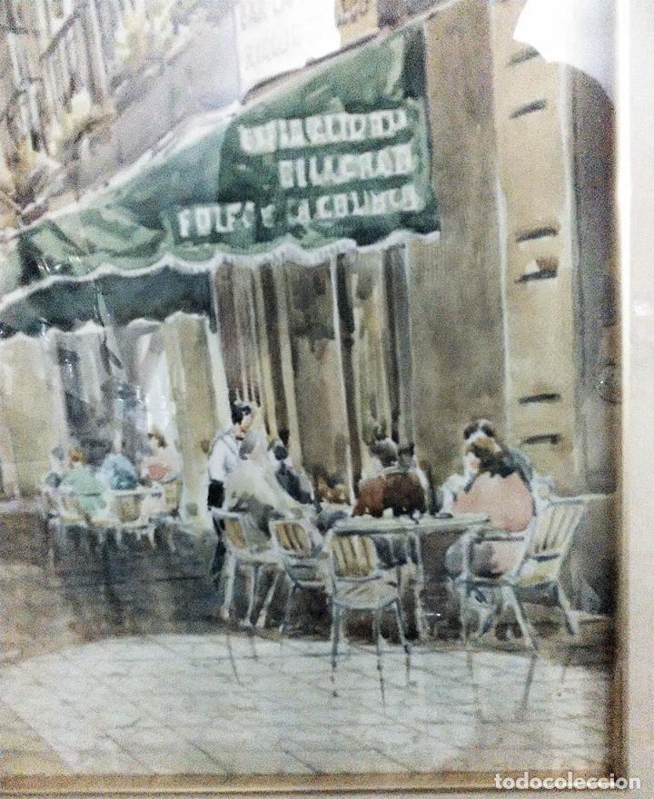 Arte: 2 ANTIGUAS ACUARELAS ALICANTE PASAJE PORTICO DE ANSALDO RINCON GALLEGO ANONIMO ¿PETEN? - Foto 4 - 289574998