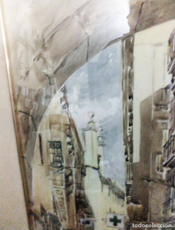 Arte: 2 ANTIGUAS ACUARELAS ALICANTE PASAJE PORTICO DE ANSALDO RINCON GALLEGO ANONIMO ¿PETEN? - Foto 6 - 289574998