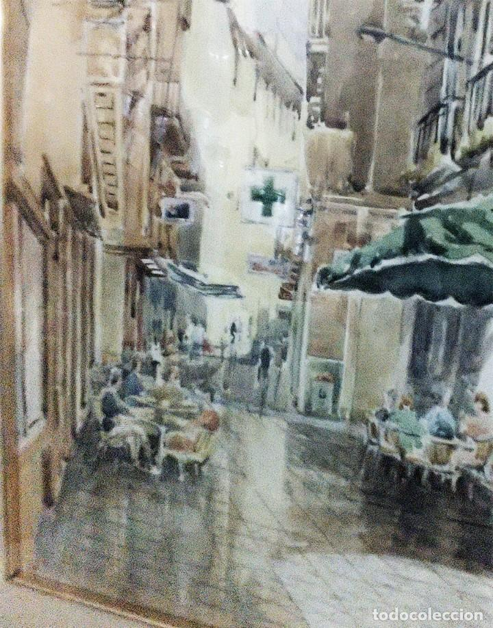 Arte: 2 ANTIGUAS ACUARELAS ALICANTE PASAJE PORTICO DE ANSALDO RINCON GALLEGO ANONIMO ¿PETEN? - Foto 7 - 289574998
