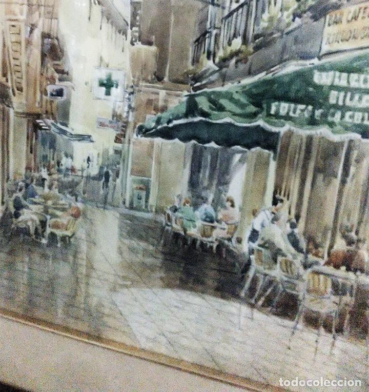 Arte: 2 ANTIGUAS ACUARELAS ALICANTE PASAJE PORTICO DE ANSALDO RINCON GALLEGO ANONIMO ¿PETEN? - Foto 8 - 289574998