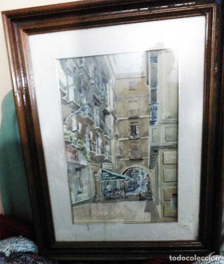 Arte: 2 ANTIGUAS ACUARELAS ALICANTE PASAJE PORTICO DE ANSALDO RINCON GALLEGO ANONIMO ¿PETEN? - Foto 9 - 289574998