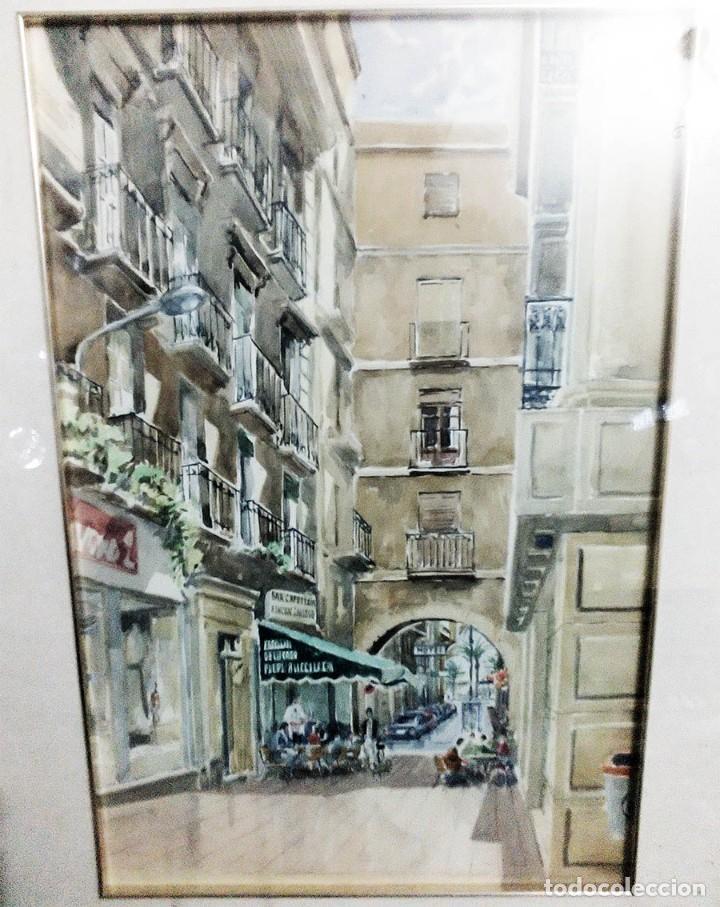 Arte: 2 ANTIGUAS ACUARELAS ALICANTE PASAJE PORTICO DE ANSALDO RINCON GALLEGO ANONIMO ¿PETEN? - Foto 10 - 289574998