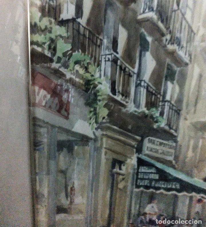 Arte: 2 ANTIGUAS ACUARELAS ALICANTE PASAJE PORTICO DE ANSALDO RINCON GALLEGO ANONIMO ¿PETEN? - Foto 12 - 289574998