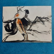 "Arte: ""BOCETO RAPIDO PASE DE TAUROMAQUIA"". Lote 289601053"