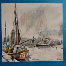 "Arte: A. CANALS"" MUELLE DE PESCADORES"" 1956. Lote 289608923"