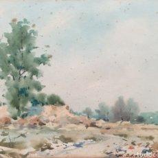 Arte: MARTÍN ADROHER BOSCH (GERONA, 1905-1972) - PAISAJE RURAL.AGUADA I TINTA.FIRMADA.. Lote 183565740