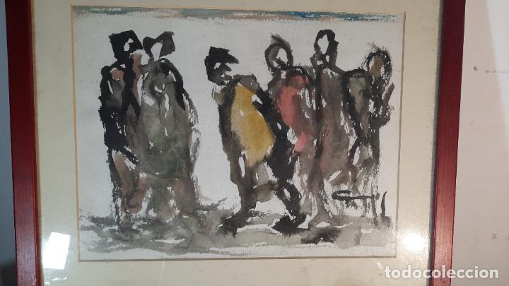ACUARELA WASH RODRIGO GRAS PINTADO A DOS CARAS (Arte - Acuarelas - Contemporáneas siglo XX)