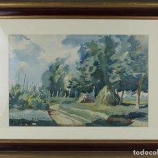 Arte: ROBERTO SEGURA MONGE (1927-2008) - ACUARELA - PAISAJE RURAL. Lote 293345423