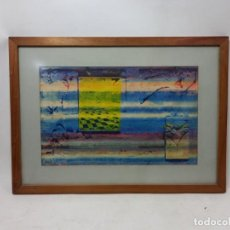 Arte: CUADRO 1987 MARIO QUAGLI TECNICA MIXTA COD 32255. Lote 293641478