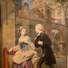 Arte: FREDERIC SCHOPIN (1804-1880) ILUSTRACIÓN PARA MANON LESCAUT. ACUARELA, 34 X 26 CM.. Lote 293743593