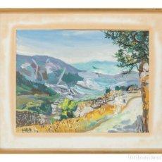 Arte: GOUACHE PAISAJE FIRMADO Y FECHADO JAVIER CLAVO 1979. Lote 294159098