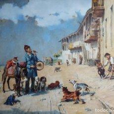 Arte: MENEGHINI MATTEO (1840-1925) PINTOR ITALIANO. ACUARELA S/PAPEL PEGADO A CARTÓN.. Lote 294502733