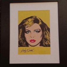 "Arte: ANDY WARHOL, ORIGINAL POP ART , AQUARELLE ET TECHNIQUE MIXTE ""DEBBIE HARRY"" SBG. Lote 295305298"