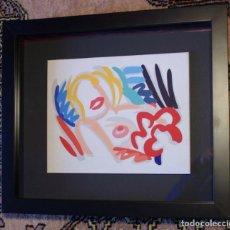 """Arte: TOM WESSELMANN POP ART """"BIG BLONDE 1989"""" CÉRAMIQUE PEINTE POLYCHROME VERNISSÉE. Lote 295306843"""