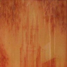 Arte: IGLESIA DE SANT FELIU DE GIRONA. FIRMADO. JOSEP AGUILERA. SANGUINA SOBRE PAPEL. ESPAÑA. 1933. Lote 295436293