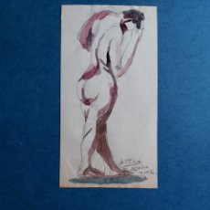 """Arte: AURORA PUCHE """"BOCETO DESNUDO MASCULINO"""" 2002. Lote 295994863"""