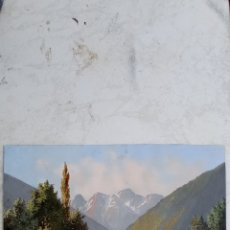 Arte: ACUARELA TORRENTE DE MONTAÑA, AÑO 1827.. Lote 296020258