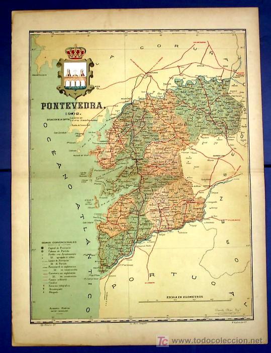 Mapa De Pontevedra Provincia.Mapa De La Provincia De Pontevedra Por Benito Sold