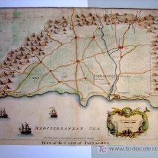 Arte: MAPA DE TARRAGONA - EDICIÓN INGLESA 1749 - COLOREADO A MANO. Lote 26716147
