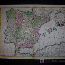 Arte: CARTOGRAFIA. MAPA ANTIGUO ESPAÑA. DE L'ISLE. 1701.. Lote 7539806