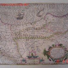 Arte: MAPA DE EUSKADI DE 1611 APROX. - MERCATOR / HONDIUS. Lote 26379009