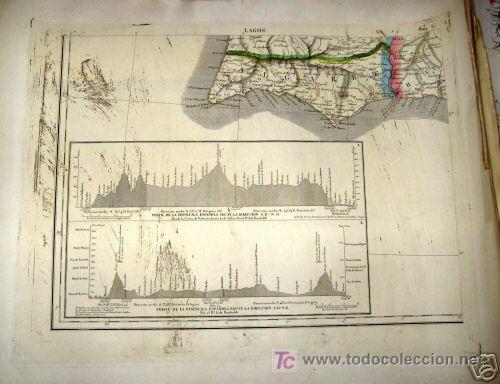 Arte: 1839 - ESPAÑA - Enorme Mapa Iluminado a Mano 16 metros - FORES Y ALABERN - 16 Hojas - - Foto 5 - 10326932