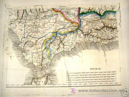 Arte: 1839 - ESPAÑA - Enorme Mapa Iluminado a Mano 16 metros - FORES Y ALABERN - 16 Hojas - - Foto 8 - 10326932