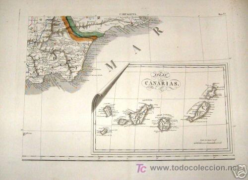 Arte: 1839 - ESPAÑA - Enorme Mapa Iluminado a Mano 16 metros - FORES Y ALABERN - 16 Hojas - - Foto 4 - 10326932