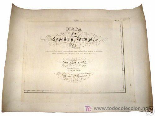 Arte: 1839 - ESPAÑA - Enorme Mapa Iluminado a Mano 16 metros - FORES Y ALABERN - 16 Hojas - - Foto 10 - 10326932