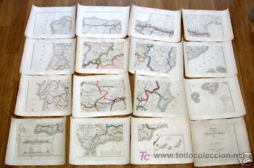 Arte: 1839 - ESPAÑA - Enorme Mapa Iluminado a Mano 16 metros - FORES Y ALABERN - 16 Hojas - - Foto 9 - 10326932