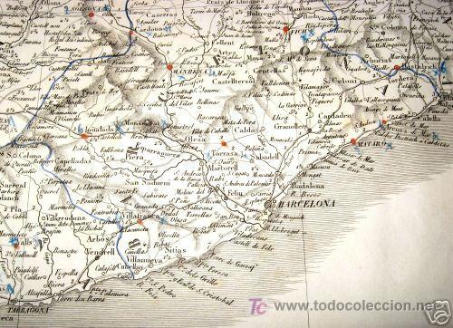 Arte: 1839 - ESPAÑA - Enorme Mapa Iluminado a Mano 16 metros - FORES Y ALABERN - 16 Hojas - - Foto 3 - 10326932