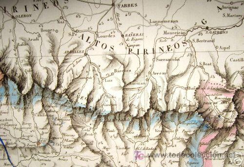 Arte: 1839 - ESPAÑA - Enorme Mapa Iluminado a Mano 16 metros - FORES Y ALABERN - 16 Hojas - - Foto 11 - 10326932