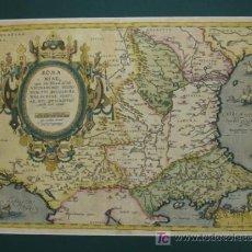 Arte: ROMANIAE VICINARUMQ3 REGIONUM UTI BULGARIAE, WALACHIAE, SYRFIAE, ETC. ORTELIUS' 1584. 60 X 47 CM.. Lote 12495199