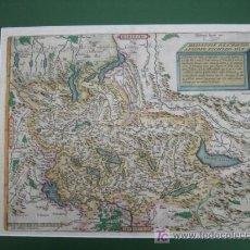 Arte: HELVETIAE DESCRIPTIO AEGIDIO TSCHUDO AUCT. ORTELIUS 1588. 60 X 47 CM. . Lote 26065704