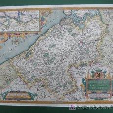 Arte: FLANDRIAE COMITATUS DESCRIPTIO. FLANDES. ORTELIUS 1588. 60 X 47 CM.. Lote 12498231
