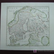 Arte: LA SCANDINAVIE, DANEMARK, NORWEGUE ET SUEDE. N SANSON. PARÍS, 1647 60 X 47 CM. . Lote 12498525