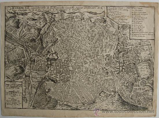 plano antiguo madrid mapa antiguo madrid  map  Comprar