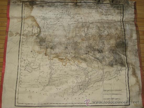 AÑO 1763. MAPA DE LAS CERCANIAS DE MADRID POR THOMAS LOPEZ, PENSIONISTA DE S.M. ENTELADO (Arte - Cartografía Antigua (hasta S. XIX))
