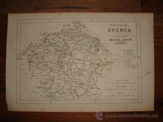 Mapa De La Provincia De Cuenca Castilla La Man Sold Through