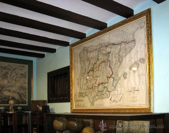 1839 - ESPAÑA - ENORME MAPA ILUMINADO A MANO 1'6 METROS - FORES Y ALABERN - 16 HOJAS - (Arte - Cartografía Antigua (hasta S. XIX))