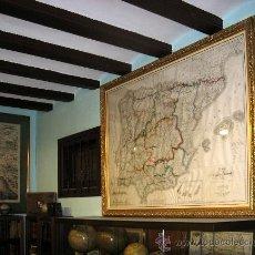 Arte: 1839 - ESPAÑA - ENORME MAPA ILUMINADO A MANO 1'6 METROS - FORES Y ALABERN - 16 HOJAS -. Lote 10326932