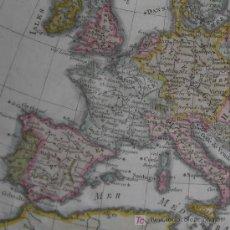 Arte: MAPA DE EUROPA DE BONNE, 1780. Lote 12343953