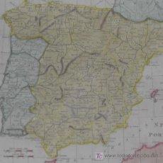 Arte: MAPA DE ESPAÑA Y PORTUGAL DE GUTHRIE, 1795. Lote 12344243