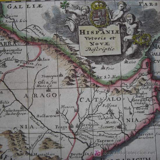 MAPA DE ESPAÑA Y PORTUGAL DE BRUZEN, 1739 (Arte - Cartografía Antigua (hasta S. XIX))