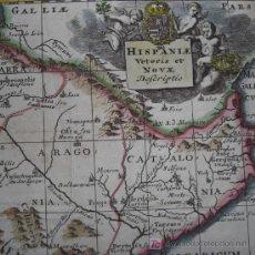 Arte: MAPA DE ESPAÑA Y PORTUGAL DE BRUZEN, 1739. Lote 12378567