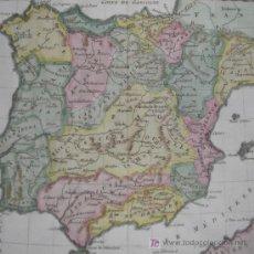 Arte: MAPA DE ESPAÑA Y PORTUGAL DE BONNE, 1795. Lote 12379178