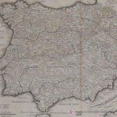 Arte: MAPA DE ESPAÑA Y PORTUGAL DE MERIAN, 1717. Lote 12415212